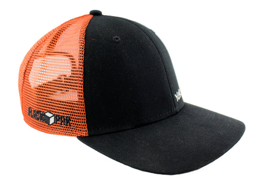 YakAttack BlackPak Trucker Hat [Orange/Black] Side