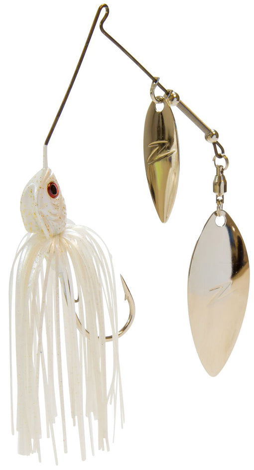 Z-Man Slingbladez Spinnerbait Double Willow Pearl Ghost