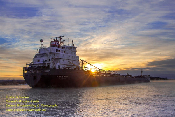 John B Aird -4311 Winter Sunrise Great Lake Freighters