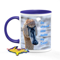 Michigan Made Wildlife Mugs Go Ahead And Make My Day Swan Coffee Cup