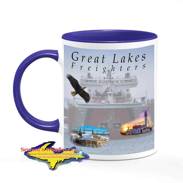 Coffee Cup Great Lakes Freighters Edwin H Gott -2156