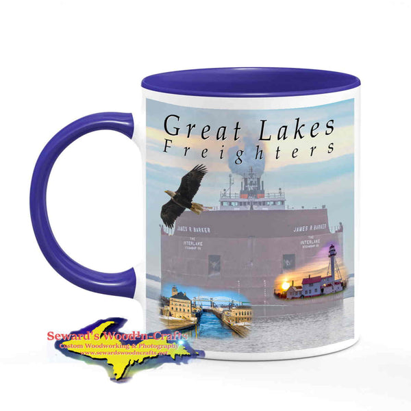 Great Lakes Freighters Mugs James R Barker Coffee Cup For Boat Nerd Fans