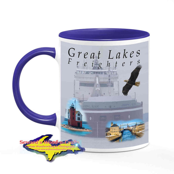 Great Lakes Freighters Mugs Joseph L Block Coffee Cup Gifts For Boat Nerds