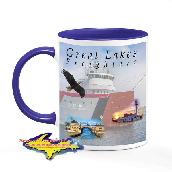 Great Lakes Freighters Mugs Roger Blough Coffee Cup
