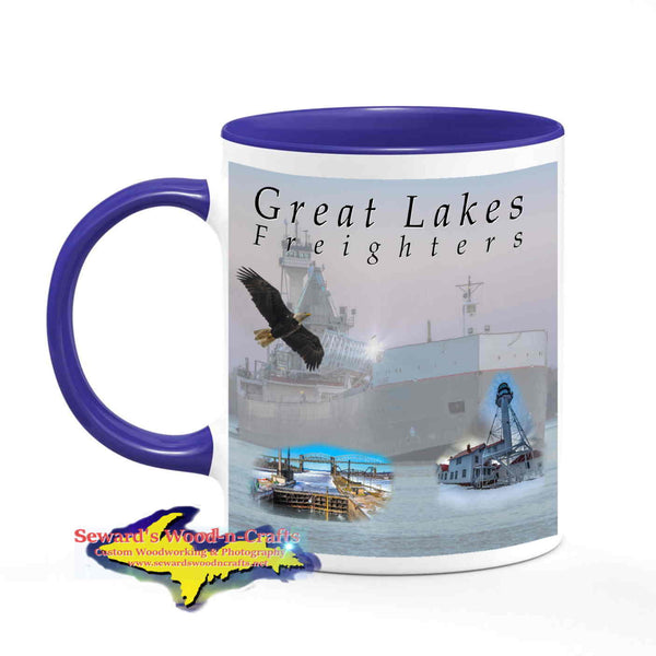 Great Lakes Freighters Mugs Tug Victory & Barge Maumee Cup