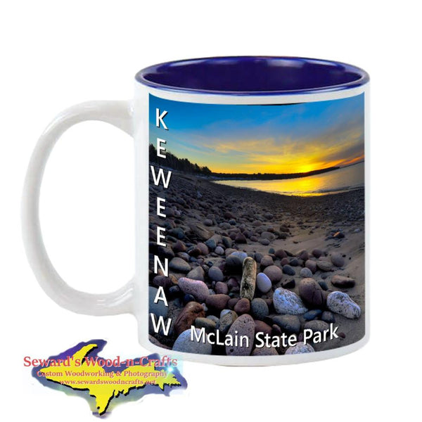 Michigan Made Coffee Cup/Mug Keweenaw Sunset McLain State Park 11oz & 15oz Cup