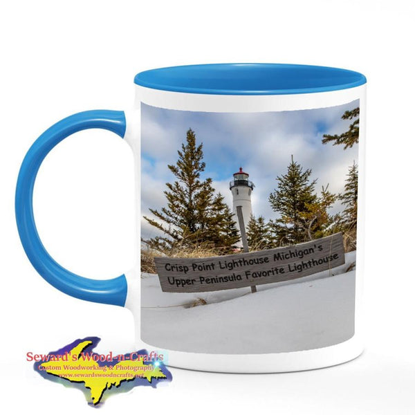Michigan Made Coffee Cup/Mug Crisp Point Lighthouse Michigan's Upper Peninsula Favorite Lighthouse