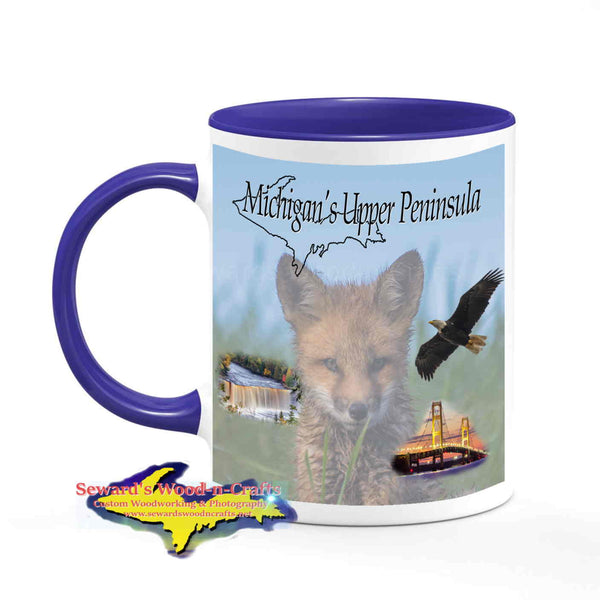 Michigan Made Wildlife Mugs Michigan's Upper Peninsula Fox Coffee Cup