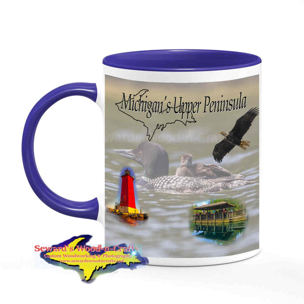 Michigan Made Wildlife Mugs Michigan's Upper Peninsula Loon Baby Cup Yooper gifts & collectibles