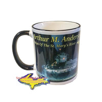 Great Lakes Freighter Arthur M. Anderson 11oz Mug For Boat Fans Back Side