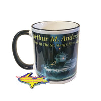 Full Steam Ahead Coffee Cup Arthur Anderson Great Lake Freighters, Gifts, & Collectables