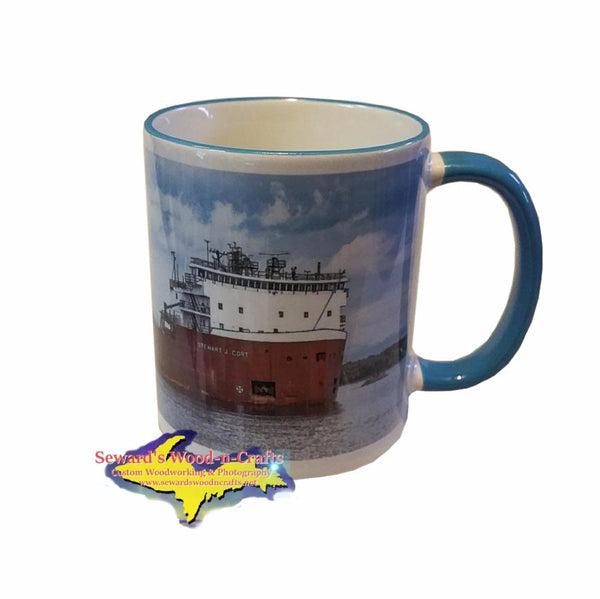 11oz Mug Stewart J. Cort Great Lakes Freighters For Boat Fan Memorabilia