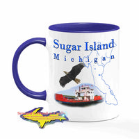 Michigan Made Mugs Sugar Island Michigan Coffee Cup Yooper gifts & collectibles