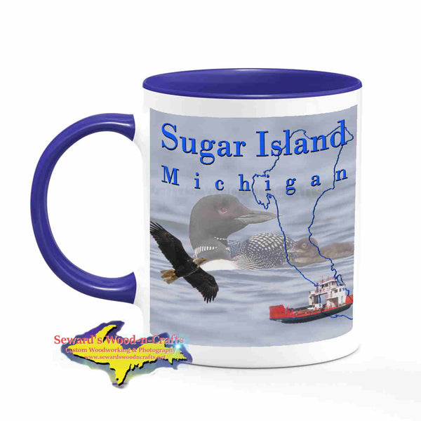 Michigan Made Mugs Sugar Island Michigan Coffee Cup Wildlife Loons Yooper gifts & collectibles