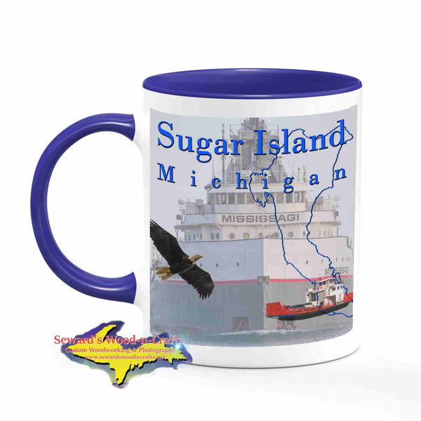 Michigan Made Mugs Sugar Island Michigan Coffee Cup Freighter Mississagi Yooper gifts & collectibles