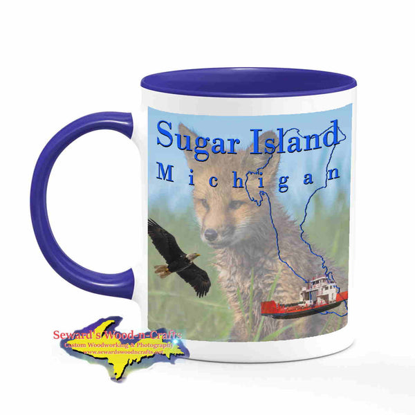 Michigan Made Mugs Sugar Island Michigan Coffee Cup Wildlife Red Fox Yooper gifts