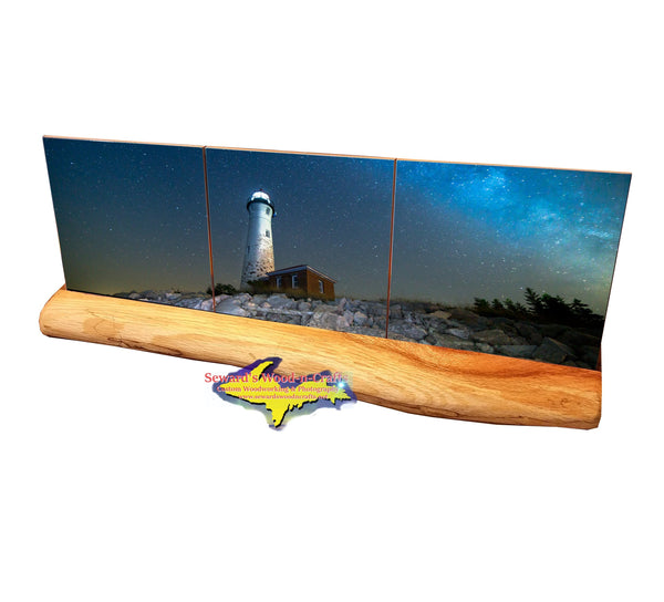 Milky Way Crisp Point Lighthouse  -2601 Michigan Coasters