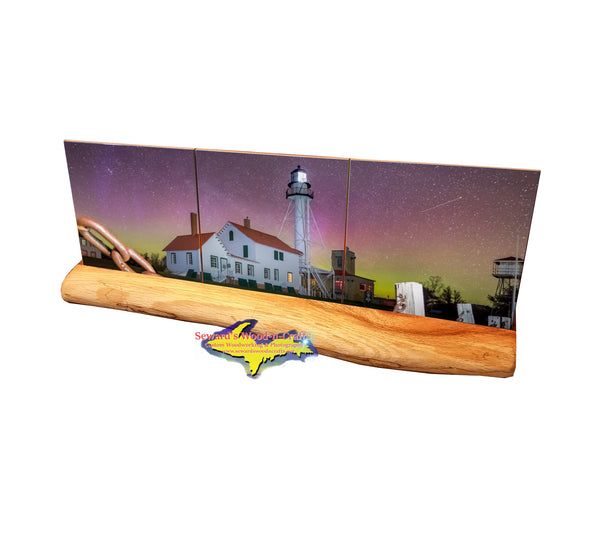 Northern Lights Whitefish Point Lighthouse -0524 Michigan Made Products & Gifts