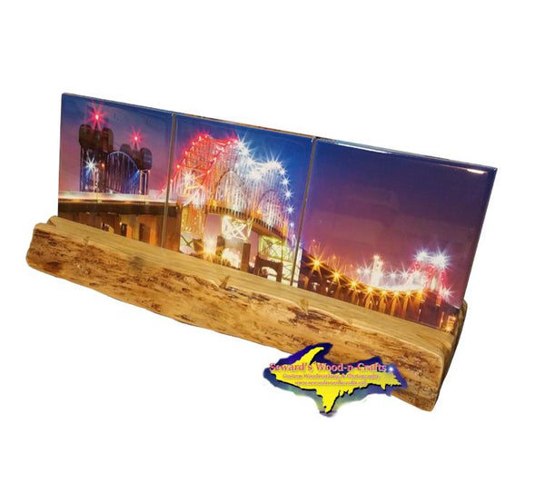 International Bridge Sault Michigan Panoramic Coaster Gifts From Sault Ste. Marie, Michigan