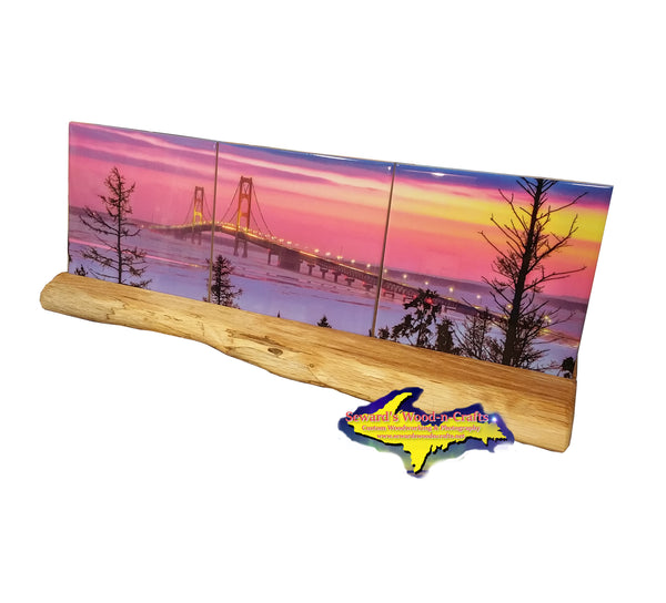 Panoramic Coaster Set ~ Mackinac Bridge -0016  Michigan Products & Gifts