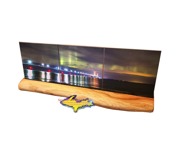Mackinac Bridge Northern Lights -3833 Michigan Products & Gifts