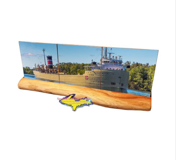 Alpena Great Lakes Freighter Photo Tile Coasters For Ship Fans