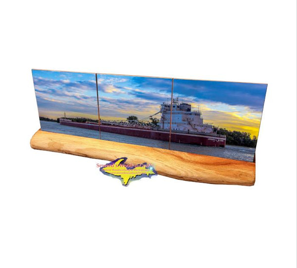 Joseph L Block Panoramic Coaster Set Central Marine Logistics Freighter Gifts