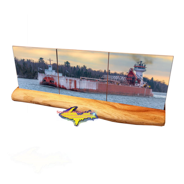 Great Lakes Freighter Gifts & Collectibles Joyce L Van Enkevort Coaster Sets For Boat Fans.
