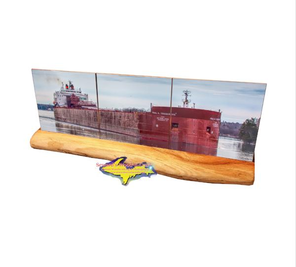 Paul Tregurtha Great Lake Freighter Coaster Set Best boat fan gifts