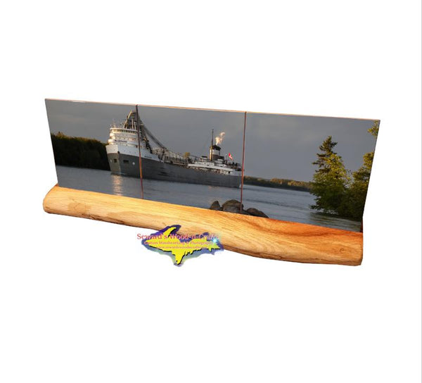 Lake Freighter Saginaw Coaster Set Great Gifts For Boat Fans At Best Prices