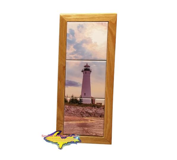 Crisp Point Lighthouse Michigan Made Framed Art Tiles