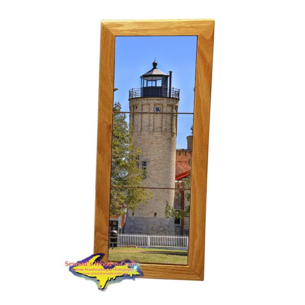 Lighthouse Old Mackinac Michigan Made Framed Art Tiles
