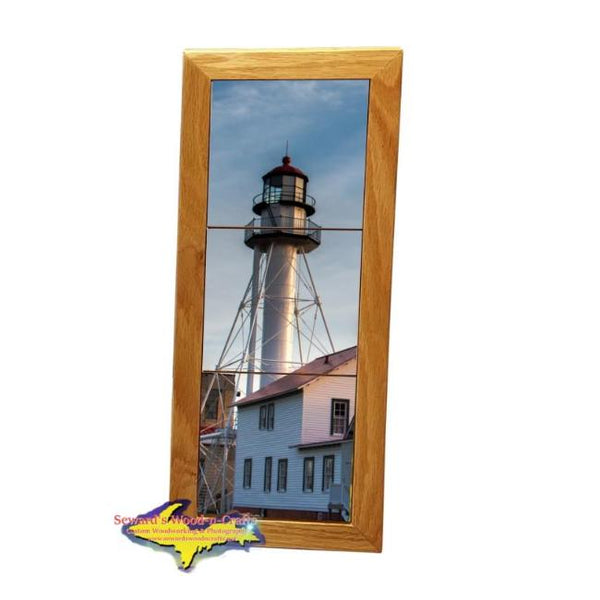 Whitefish Point Lighthouse Michigan Made Framed Art Home Office Decor