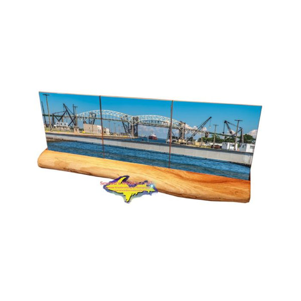 Soo Locks Photo Coaster Set Gifts From Sault Michigan