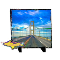 Mackinac Bridge Photo Slate Michigan Made Upper Peninsula Art