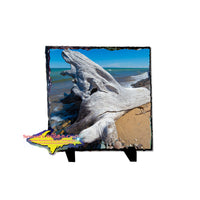 Lake Superior Driftwood on a beautiful photo slate, tile, or trivet