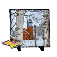 Photo Slate Big Bay Point Lighthouse Yooper Gifts