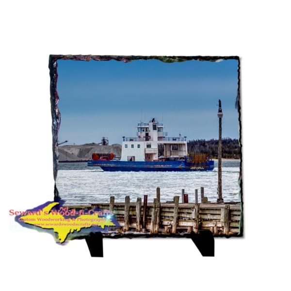 Drummond Islander IV Detour, Michigan Rustic Photo Slate Michigan's Upper Peninsula Gifts & Collectibles