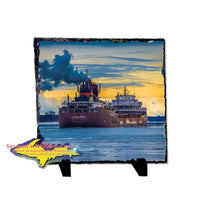 Interlake Steam Company Freighter James Oberstar Photo Rustic Slate Gifts For Boat Fans
