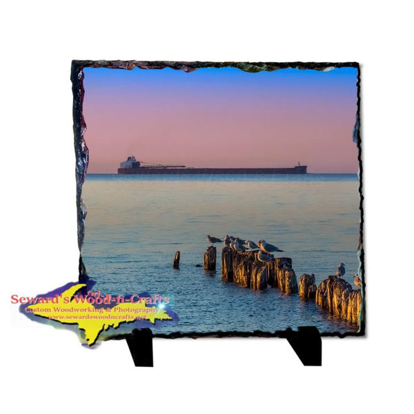 Ship Paul Tregurtha Whitefish Point Photo Slate Michigan Made Great Lakes Freighter Gifts
