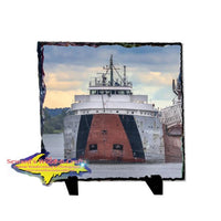 Great Lakes Fleet Philip Clark Rustic Photo Slate Best Gifts For Home Decor