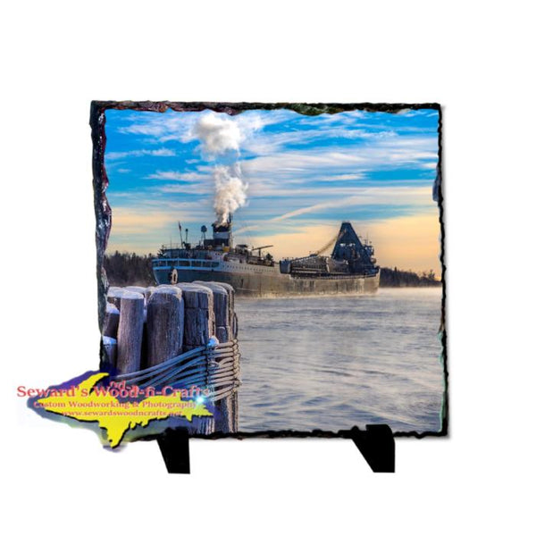 Lower Lakes Towing Ltd Freighter Saginaw Photo Slate Great Lakes Marine Gifts & Collectibles
