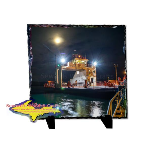 Photo Slate 8x8 Sugar Islander II In Da Moonlight Rustic Photo Slate Unique gifts and collectible from Sault Ste. Marie, Michigan