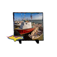 Fishing boat in Whitefish Bay on Photo Tile Gifts & Collectables