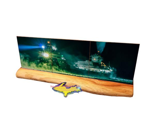 Arthur M. Anderson Lake Freighter Panoramic Coaster Tile Set