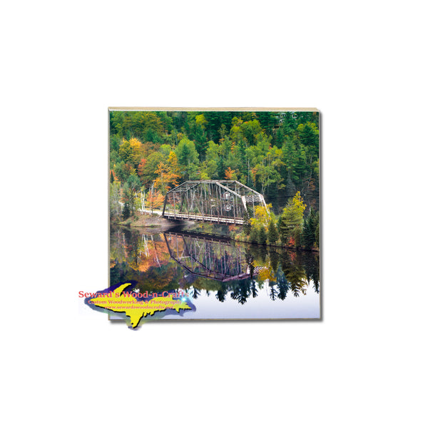 Amazing fall colors of Marquette, Michigan makes a perfect photo coaster