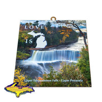 Michigan's Upper Peninsula Upper Tahquamenon Falls Photo Tiles Yooper Gifts