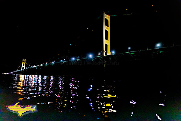 Michigan Photography   Mackinac Bridge Nightscape
