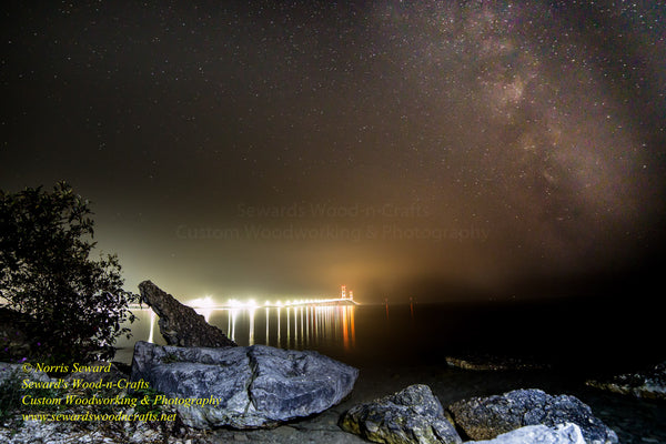 Michigan Photography Bridge Mackinac Milky Way Galaxy
