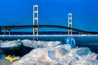 Mackinac Bridge Winter Gems Photo Michigan Photography Home Decor
